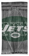 New York Jets Beach Towel by Joe Hamilton