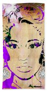 Nicki Minaj Diamond Earring Collection Beach Towel