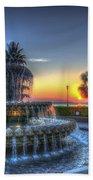 Pineapple Glowing Beach Towel