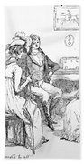Scene From Pride And Prejudice By Jane Austen Beach Towel by Hugh Thomson
