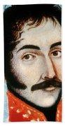 Simon Bolivar (1783-1830) Beach Towel