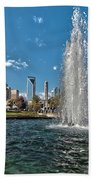 Skyline Of Uptown Charlotte North Carolina Beach Towel