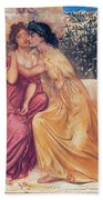 Sappho And Erinna In A Garden Beach Towel
