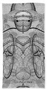 989 - Giant Creature Fractal ... Beach Towel