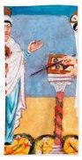 9th Century Artwork Beach Towel