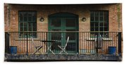 A Balcony On The River Aire Beach Towel