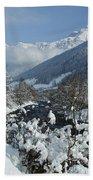 A Beautiful Winterday - Austrian Alps Beach Towel