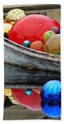 A Boat Full Of Color Beach Towel