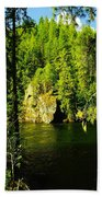 A Boulder Across The Seleway River  Beach Towel