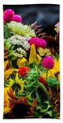 A Bouquet Of Flowers  Beach Towel