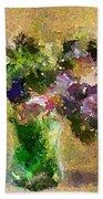 A Bouquet Of Lilac Beach Sheet