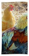 A Bunch Of Chickens Beach Towel