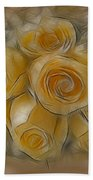 A Bunch Of Yellow Roses Beach Towel by Susan Candelario