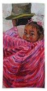 A Bundle Buggy Swaddle - Peru Impression IIi Beach Towel by Xueling Zou