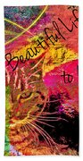 A Cat's Life Beach Towel