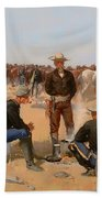 A Cavalryman's Breakfast Beach Towel