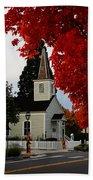 A Church In Historic Jacksonville Beach Towel