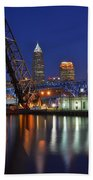 A Cleveland Ohio Evening On The River Beach Towel