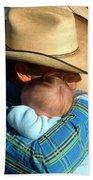 A Cowboy's Love Beach Towel
