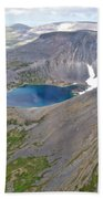 A Crater Lake From The Seaplane In Katmai National Preserve-alaska  Beach Towel
