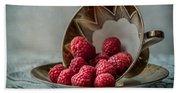 A Cupfull Of Raspberries Beach Towel