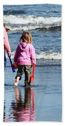 A Day At The Seaside  Beach Towel