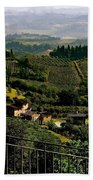 A Day In Tuscany Beach Towel