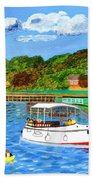 A Day On The River In Exeter Beach Towel