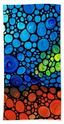 A Day To Remember - Mosaic Landscape By Sharon Cummings Beach Towel