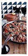 A Dish Of Paella Beach Sheet