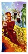 A Feminine Day In A Masculine Dreamer's Night Beach Sheet