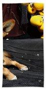 A Fishermans Best Friend Beach Towel by James Brunker