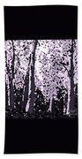 A Forest Silhouette Beach Towel