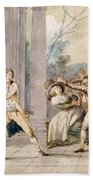 A Game Of Blind Mans Buff, C.late C18th Beach Towel