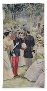 A Garden Party At The Elysee Beach Towel