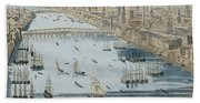 A General View Of The City Of London And The River Thames Beach Towel