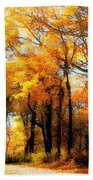 A Golden Day Beach Towel by Lois Bryan
