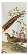 A Golden Pheasant Beach Towel