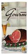 A Gourmet Cover Of Ham Beach Towel