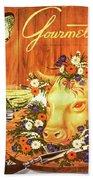 A Gourmet Cover Of Tete De Veau Beach Sheet