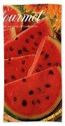 A Gourmet Cover Of Watermelon Sorbet Beach Sheet