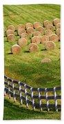A Herd Of Hay Bales Beach Towel