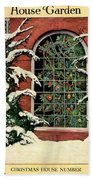 A House And Garden Cover Of A Christmas Tree Beach Towel