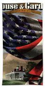 A House And Garden Cover Of An American Flag Beach Towel