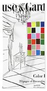 A House And Garden Cover Of Color Swatches Beach Towel