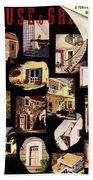 A House And Garden Cover Of House Details Beach Towel