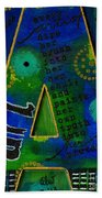 A Is For Art And Art Is Love Beach Towel
