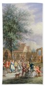 A Kermesse On St. Georges Day Beach Towel by Angel-Alexio Michaut