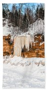 A Land Of Snow And Ice Beach Towel