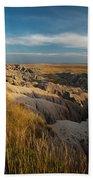 A Landscape Image Of Badlands National Beach Towel